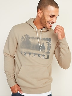 Classic Graphic Pullover Hoodie for Men