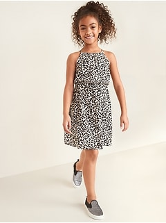 Cinched-Waist Cami Dress for Girls