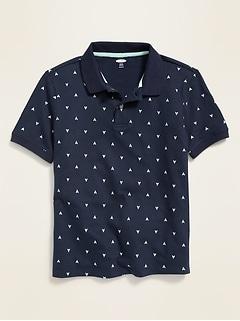 Built-In Flex Pique Uniform Polo for Boys
