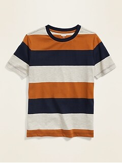 Bold-Stripe Softest Tee for Boys