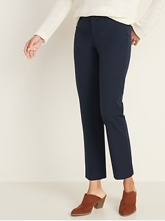 All-New Mid-Rise Pixie Straight-Leg Ankle Pants for Women
