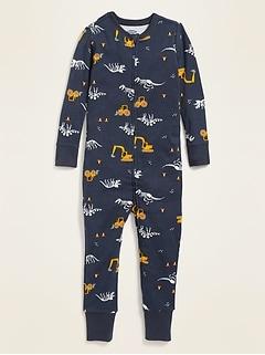 Dino-Print Pajama One-Piece for Toddler & Baby