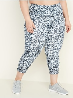 High-Waisted Elevate Plus-Size Side-Pocket Compression Crops