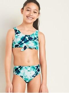Bikini noué à l'avant pour fille