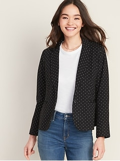 Classic Ponte-Knit Blazer for Women