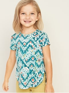 Luxe Tulip-Hem Tunic Top for Toddler Girls