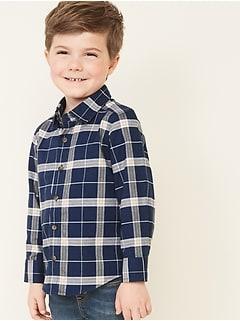 Plaid Long-Sleeve Oxford Shirt for Toddler Boys