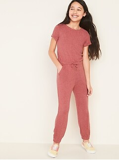 Plush-Knit Jumpsuit for Girls