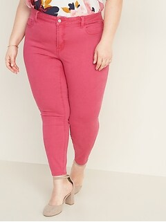 High-Waisted Plus-Size Secret-Slim Pop-Color Rockstar Jeans