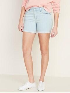 Slim Midi Jean Shorts for Women - 5-inch inseam