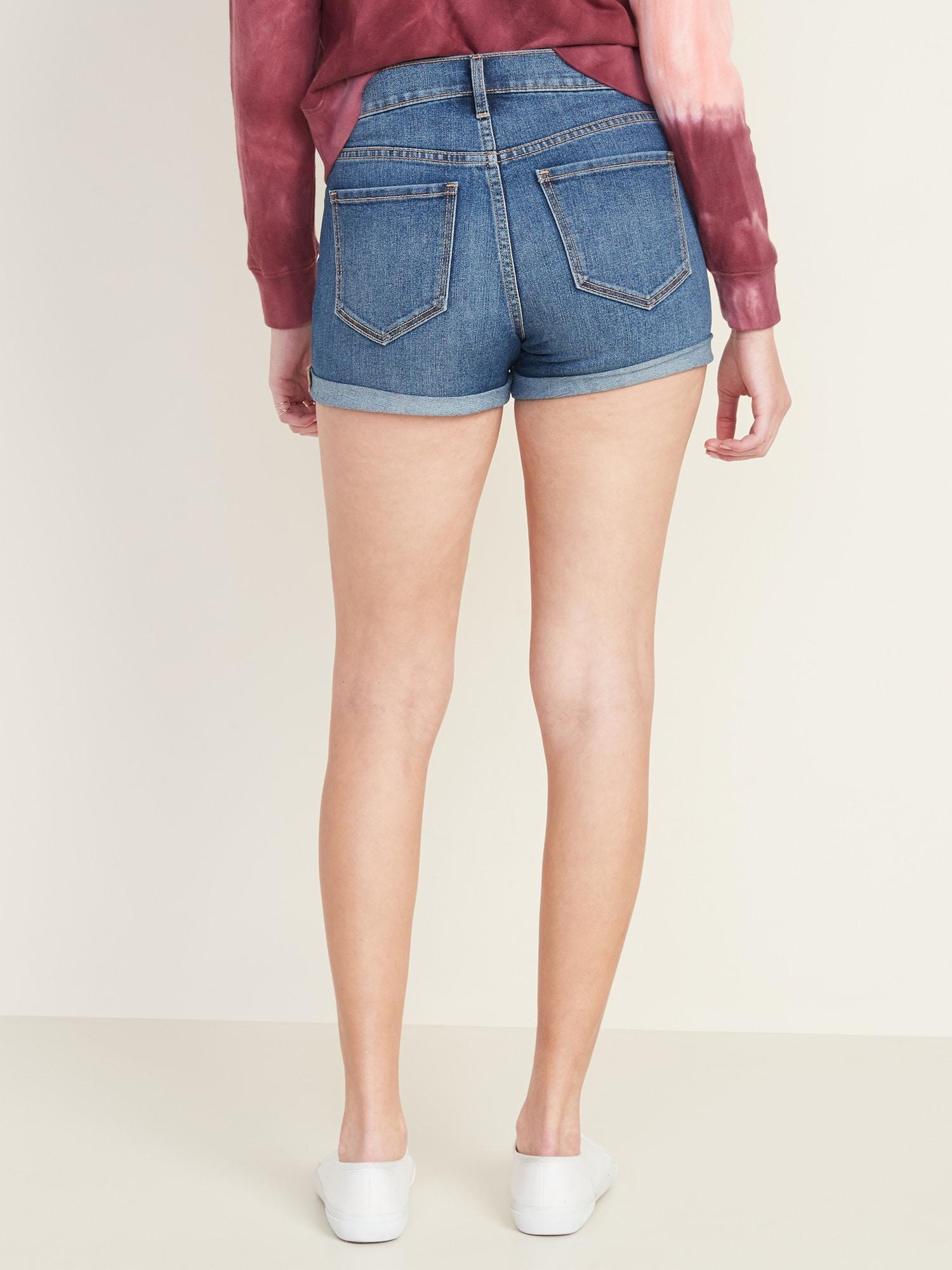 "Women/'s Old Navy Light Wash Jean Denim Cut-Off 3.5/"" Low Rise Shorts 8 Sizes 2"