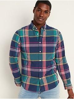 Chemise quotidienne Built-In Flex à carreaux, coupe standard pour homme