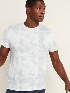 Soft-Washed Tie-Dye Crew-Neck Tee for Men