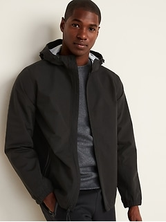 Go-H20 Water-Resistant Hooded Rain Jacket for Men