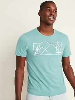 T-shirt à imprimé au fini soyeux pour homme