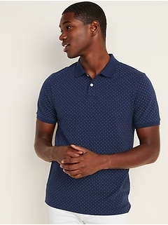Moisture-Wicking Printed Pro Polo for Men