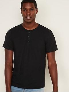 Soft-Washed Jersey Short-Sleeve Henley for Men