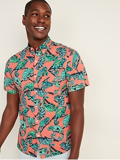 Chemise quotidienne Built-In Flex à imprimé, à manches courtes pour homme