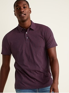 Soft-Washed Striped Jersey Polo for Men