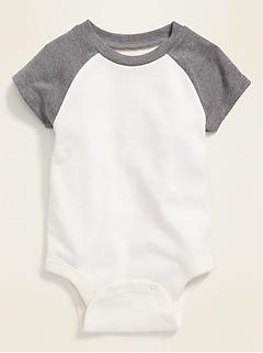 Raglan-Sleeve Bodysuit for Baby