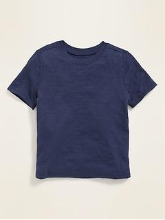 T-shirt ras du cou en tricot grège pour tout-petit garçon