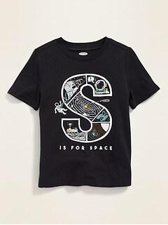 T-shirt à imprimé de dinosaure à manches courtes pour tout-petit garçon