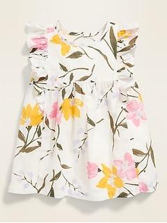 Printed Ruffle-Trim Dress for Baby
