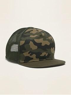 Camo-Print Trucker Hat for Toddler Boys