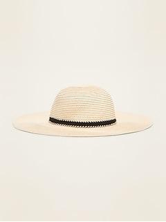 Chapeau de soleil à bords souples pour toute-petite fille