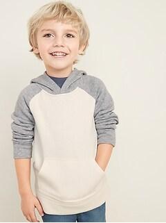 Raglan Color-Block Hoodie for Toddler Boys