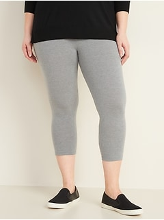 High-Waisted Plus-Size Cropped Leggings