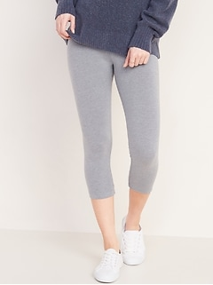 Mid-Rise Cropped Leggings for Women