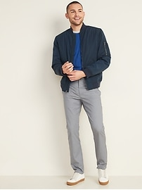 Slim Ultimate Built-In Flex Textured Chino Pants for Men