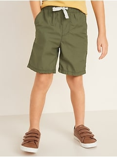 Functional-Drawstring Pull-On Shorts for Toddler Boys