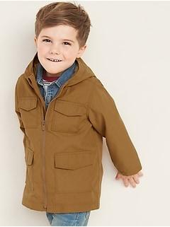 Veste militaire à capuchon pour tout-petit garçon