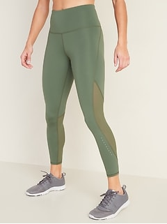 High-Waisted 7/8-Length Run Leggings For Women