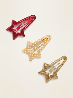 Star-Shaped Hair Clips 3-Pack for Women