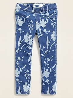 Floral-Print Extra-Stretch Jeggings for Toddler Girls