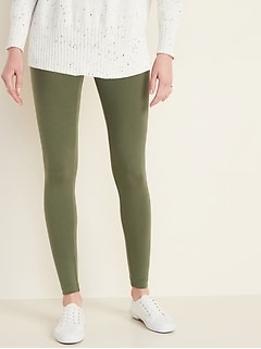Mid-Rise Jersey Leggings for Women