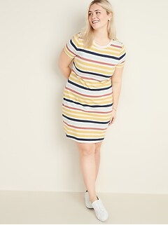 Fitted Plus-Size T-Shirt Dress