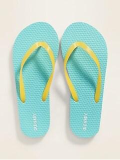 Pop-Color Flip-Flops for Kids