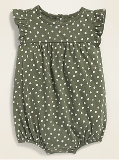 Printed Jersey Bubble One-Piece for Baby