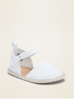 Ankle-Strap Eyelet Espadrille Sandals for Baby