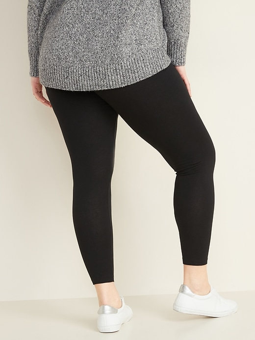 High-Waisted Plus-Size Jersey Leggings