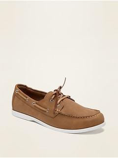 Chaussures bateau en similicuir pour homme