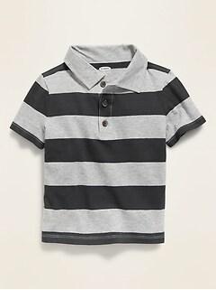 Bold-Stripe Jersey Polo for Toddler Boys