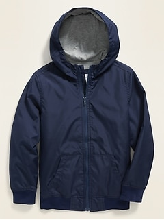 Hooded Uniform Windbreaker for Boys