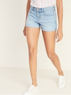 Cuffed Jean Shorts for Women - 3-inch inseam
