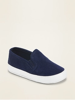 Unisex Faux-Suede Slip-Ons For Baby
