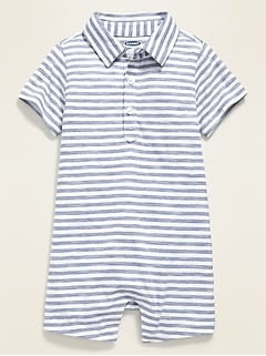 Printed Polo One-Piece for Baby